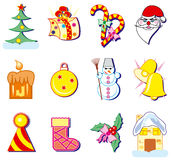 Christmas icons. Illustrations Royalty Free Stock Image