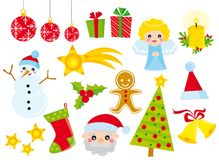 Christmas icons. Illustration of christmas icons set stock illustration