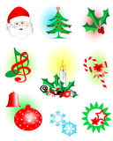 Christmas icons. Vector illustration of assorted christmas icons Royalty Free Stock Photo