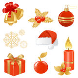 Christmas icons. Royalty Free Stock Photography