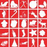 Christmas icons. A set of Christmas icons Stock Photography