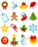 Christmas icons. Vector illustration - set of christmas icons Royalty Free Stock Photos