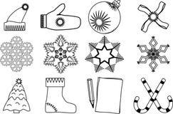 Christmas icons Stock Image