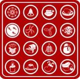 Christmas Icons. A set of Christmas Icons Stock Image