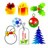 Christmas Icons. Illustration of colorful christmas icons set stock illustration