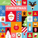 Christmas icons background Stock Image