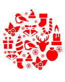 Christmas Icons Ball Royalty Free Stock Images