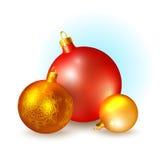 Christmas icons with balls Stock Photography