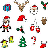 Christmas icons. Cartoon illustration vector Royalty Free Stock Images