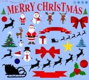 Christmas icons for celebratory design Stock Image