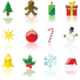 Christmas icons Christmas icons Christmas icons Stock Image