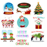 Christmas Icons and Cliparts Royalty Free Stock Images