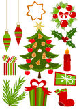 Christmas icons collection Royalty Free Stock Image