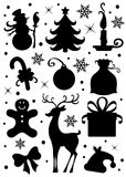 Christmas icons. Collection of a Christmas icons Stock Image