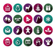 Christmas Icons. Collection of Christmas icons in flat design style vector illustration