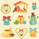 Christmas Icons Collection Royalty Free Stock Photos