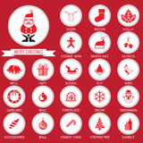 Christmas Icons Collection set Stock Photos