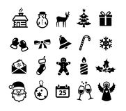 Christmas Icons. Collection of Christmas and winter icons stock illustration