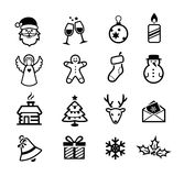 Christmas Icons. Collection of Christmas and winter icons royalty free illustration