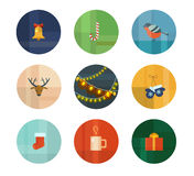Christmas icons. Colorful Trendy Vector Icon Set. Christmas. New Year Royalty Free Stock Images
