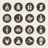 Christmas Icons. Each icon is a single object Stock Image