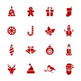 Christmas Icons. Each icon is a single object Stock Photos