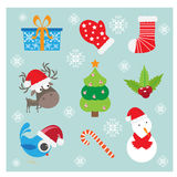 Christmas icons or elements Stock Photo