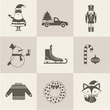 Christmas icons. This is file of EPS10 format Royalty Free Stock Photo