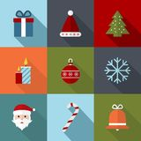 Christmas Icons. Flat Vector Illustration. Royalty Free Stock Photography