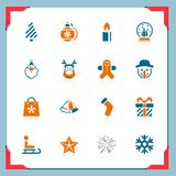 Christmas icons | In a frame series Royalty Free Stock Images