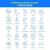 Christmas Icons - Futuro Blue 25 Icon pack royalty free illustration