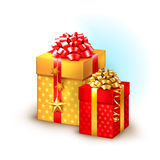 Christmas icons with gifts Royalty Free Stock Photos