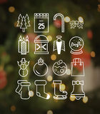 Christmas icons in hipster style vector Stock Images