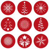 Christmas Icons Icons. Selection of nine different christmas icons - additional ai and eps format available on request Royalty Free Stock Photography