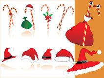 Christmas icons illustration Royalty Free Stock Photography