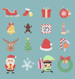 Christmas icons. Illustration .eps10 royalty free illustration