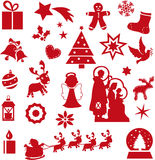 Christmas icons Stock Image