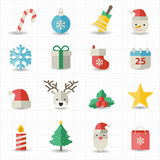 Christmas icons. This image is a vector illustration Royalty Free Stock Image