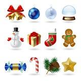 Christmas icons Royalty Free Stock Photos