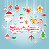 Christmas Icons : Objects, Hanging Decoration Royalty Free Stock Photography