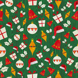 Christmas icons pattern Stock Photography