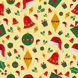 Christmas icons pattern background Royalty Free Stock Images