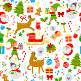 Christmas icons pattern Stock Photos
