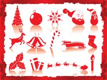 Christmas icons set Royalty Free Stock Photos