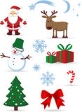 Christmas icons set. Vector illustration depicting the Christmas symbols Stock Images
