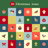 Christmas icons. Set of cute Christmas icons for your design and decoration Stock Photos