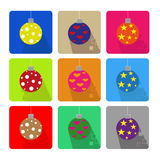 Christmas icons set Royalty Free Stock Photo