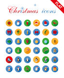 Christmas icons set and design elements. stock illustration
