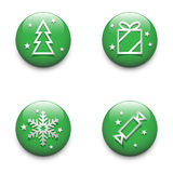 Christmas icons set. Royalty Free Stock Photography