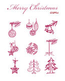 Christmas icons Stock Photography